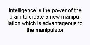 the power of the brain to create a new manipulation